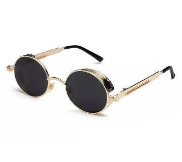 Golden steel sunglass for women