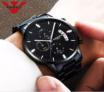 NIBOSI MENS CHRONOGRAPH  COWARTS WRIST WATCH