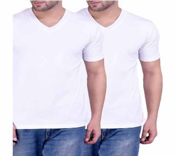 V-Neck T-Shirt For Men 2 Combo