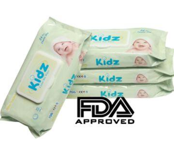 Kidz Wet Wipes for Baby - 56 Pcs