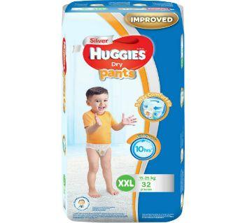 HUGGIES Diaper XXL (15-25 KG) -PANTS STYLE -32 PCS (Malaysia)