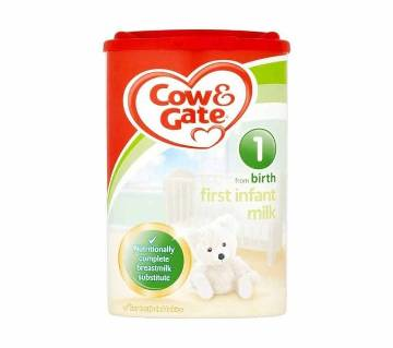 Cow & Gate 1 First Infant Formula Milk Powder, (0-6) Months, 800 gm
