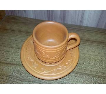 Clay Cup Plate - Set of 6pcs