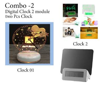 Digital Clock 2 pcs Combo