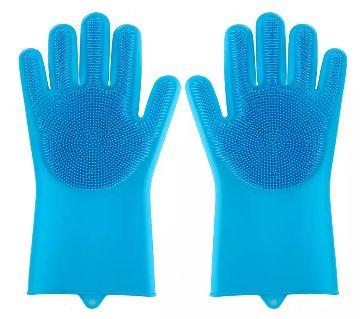 Silicone Dish Washing Kitchen Hand Gloves