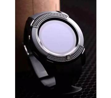 V8 Smart Watch HD Smartphone Watch OLED iOS Android Black - WLB