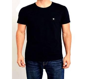 Solid color T-shirt for men black