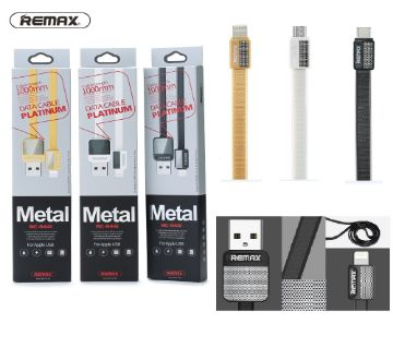 Original Remax Metal Platinum Micro USB Fast 2.1A Data Cable -  1 pcs
