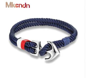 MKENDN High Quality Anchor Bracelets Men Charm Nautical Survival Rope Chain Paracord  Wrap Metal Sport Hooks