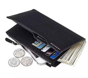 PU leather 3 quater wallet for man