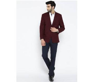 F&F Regular Fit Single-Breasted ব্লেজার- Maroon