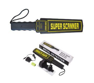 GTC SUPER SCANNER HAND HELD মেটাল ডিটেক্ট উইথ চার্জার এন্ড রিচার্জেবল ব্যাটারী