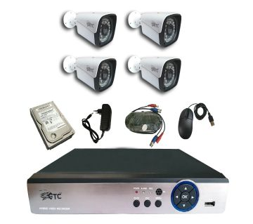 GTC 4 Channel AHD E-770H15 CCTV System (full Package) with Hard Disk.