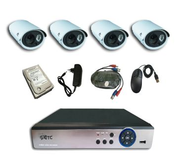 GTC 6911H1 1.3MP AHD IR BULLET CAMERA  CCTV System (full Package) with Hard Disk