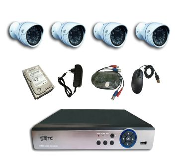 GTC 6931H1 1.3MP AHD IR BULLET CAMERA CCTV System (full Package) with Hard Disk