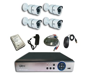 GTC 6938H1 1.3MP AHD IR BULLET CAMERA CCTV System (full Package) with Hard Disk.