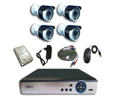 GTC 6966H1 1.3MP AHD IR BULLET CAMERA CCTV System (full Package) with Hard Disk.
