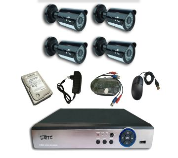 GTC X6H1 1.3MP AHD IR BULLET CAMERA CCTV System (full Package) with Hard Disk.