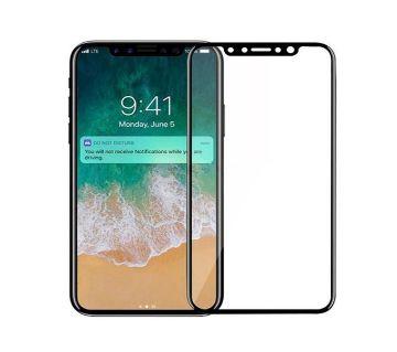 iPhone X 5D টেম্পার্ড গ্লাস স্ক্রিন প্রোটেক্টর - ট্রান্সপারেন্ট
