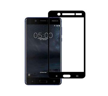 9H Glass 5D Curve Screen Guard for Nokia 5 - Black and Transparent