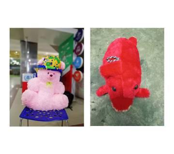 Teddy Bear+Fish Shaped Doll Combo