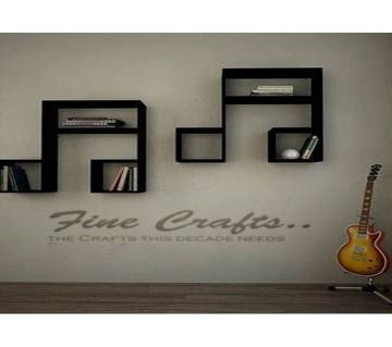 Two music cord design wall shelve