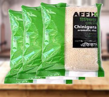 Affix Chinigura Aromatic Rice 1kg 3 Pac Combo - BD