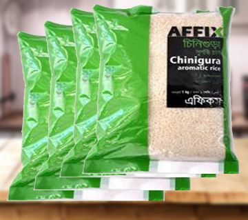 Affix Chinigura Aromatic Rice 1kg 4pac Combo - BD