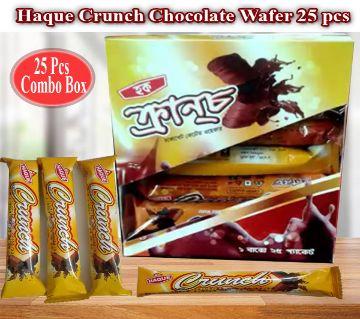 Haque Crunch Chocolate Wafer - 1 Box (25 Pcs )
