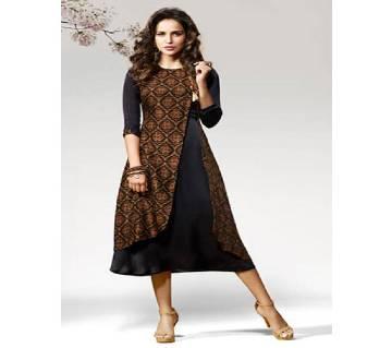 Twinkel Indian silk Long Kurti Copy