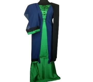 Unstitched Silk Three Piece