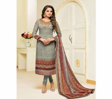 MEERA ZISA HARMONY Unstitched Georgette Digital Printed Embroidery Three Piece