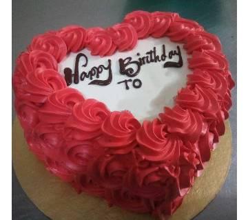 Vanilla Valentine Theme Cake 1Kg