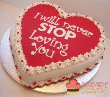 Red Velvet Valentine Theme Cake 1Kg