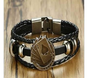 Vintage Mens PU Leather Bracelet