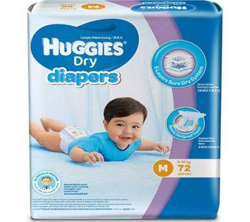 Huggies Baby Dry Diaper belt system M Size 72 pcs 5-10kg