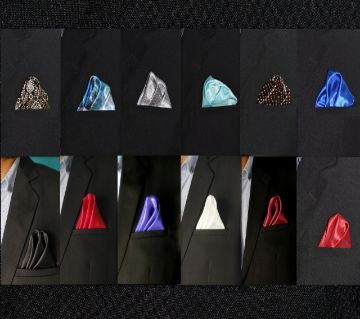 Set of Silk Woven Pocket Squares For Men