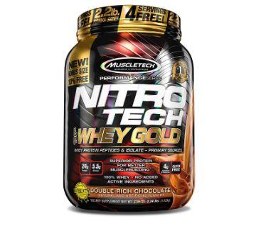 Nitro Tech 100% Whey Protein Powder - 2.2 LBS U.S.A