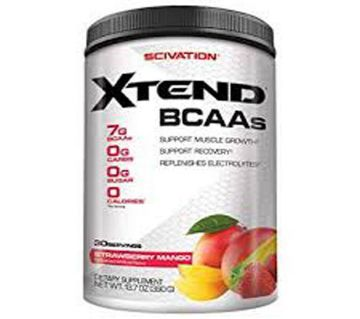 Scivation Xtend BCAA Powder, BCAAs, Strawberry Mango, 30 Servings U.S.A