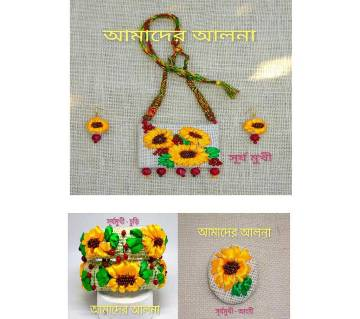 Sunflower Jewelry Set