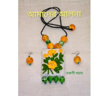 Boishakhi Jute Pendent Set