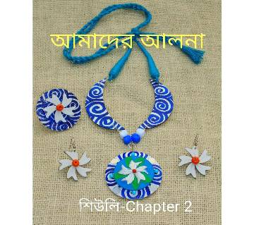 Sheuly:Chapter 2 Hand Embroidery & Painting Jewelry Set