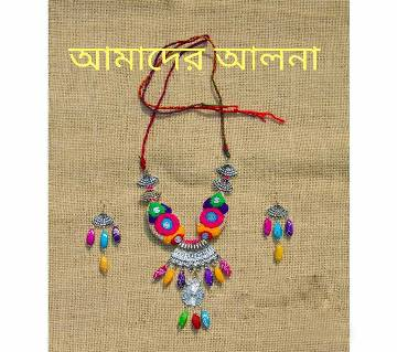 Jute Embroidery:Joypuri Necklace Set