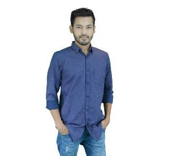 Cotton Slub Chambray Full Sleeve Casual Shirt