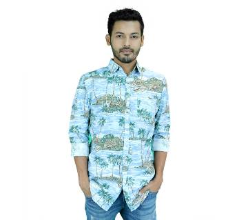 Cotton Poplin Printed Shirt