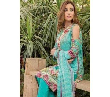Pakistani Aira Khan Digital Printed Three Piece Copy