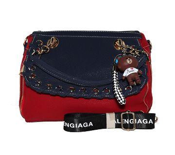 Artificial Leather Handbag (Red)