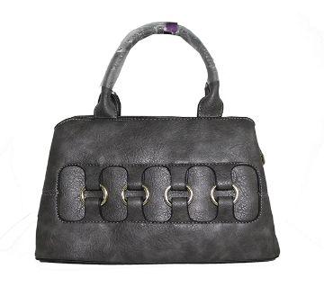 Ring Designed Leather Handbag