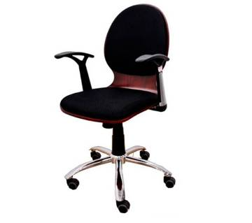 Mid level shell type mass revolving chair