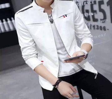 White PU Leather জ্যাকেট ফর ম্যান